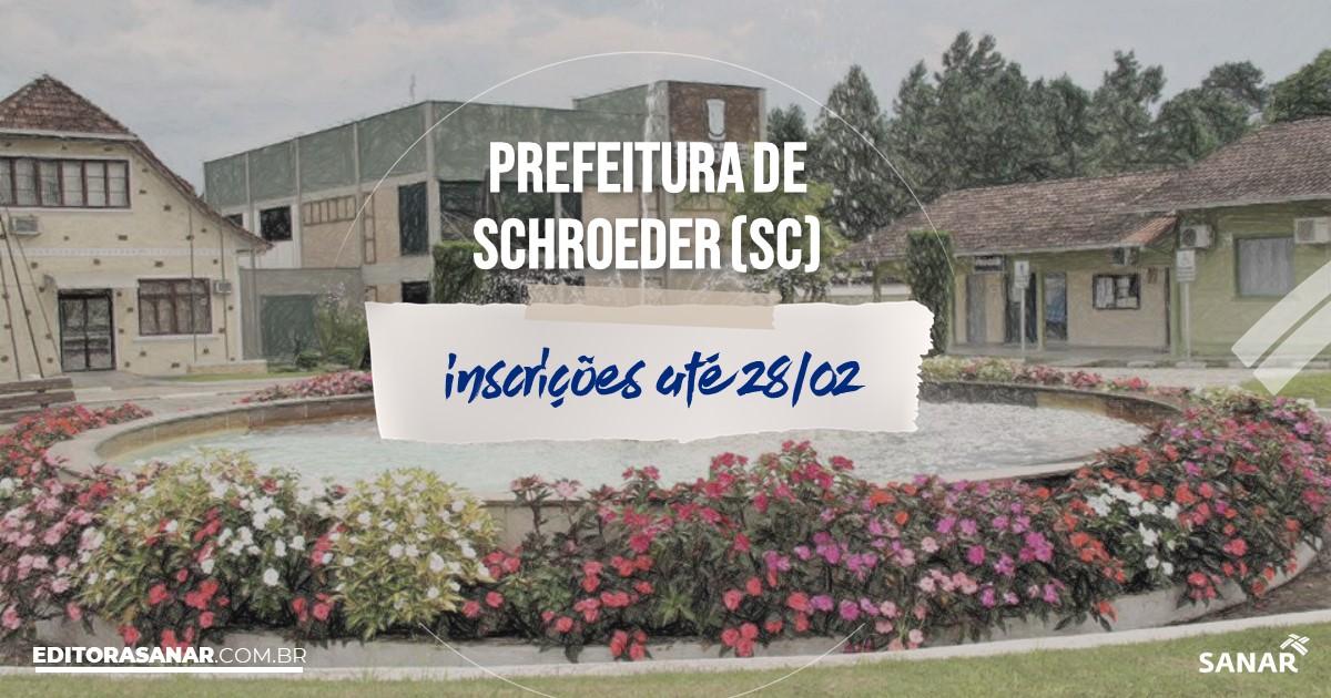 Concurso de Schroeder - SC: na Saúde, vagas para psicólogos!