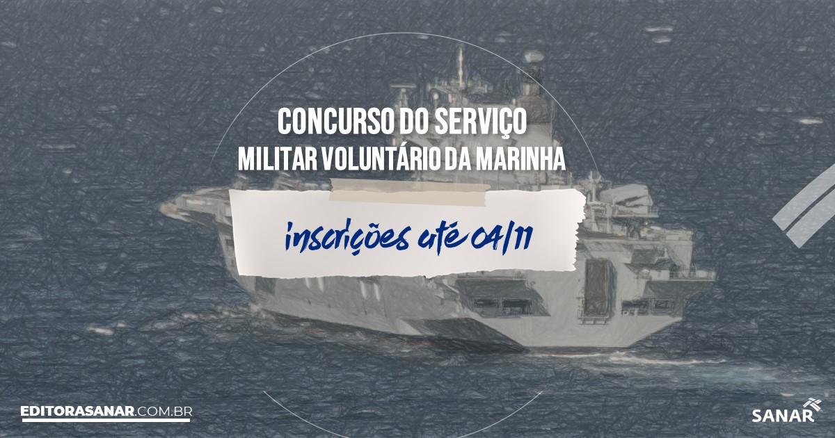 Concurso do Serviço Militar Voluntário da Marinha: R$9 mil inicial!