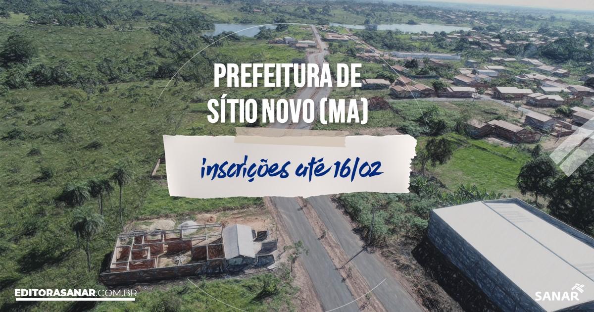 Concurso de Sítio Novo - MA: na Saúde, salários de até R$8 mil!