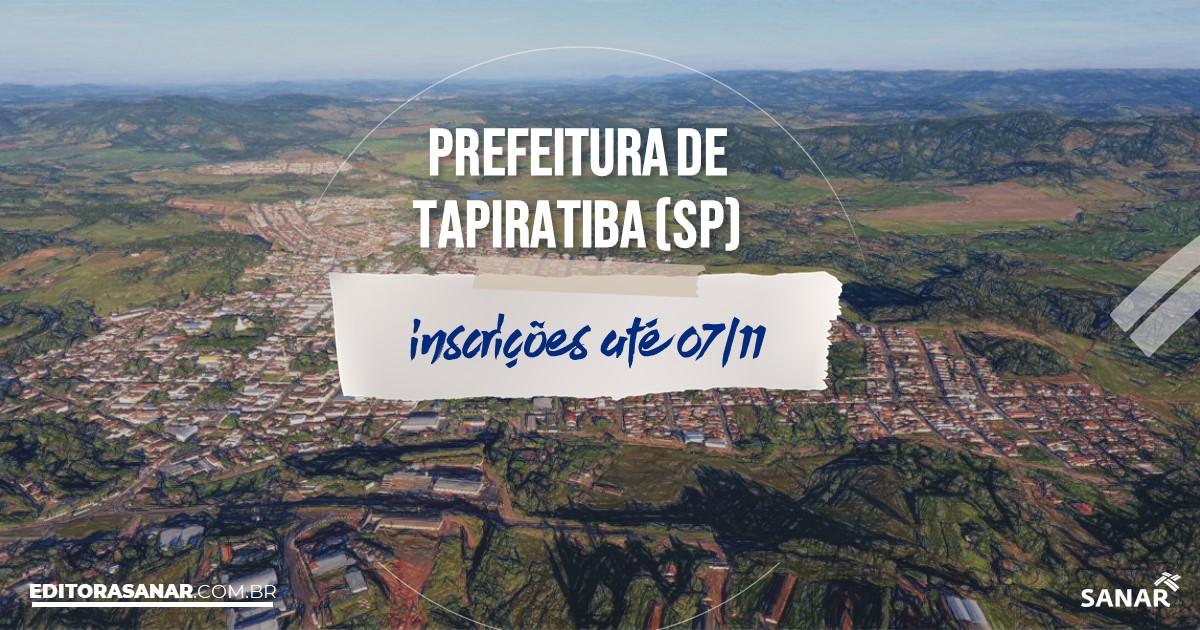 Concurso de Tapiratiba - SP: vagas imediatas na Saúde!