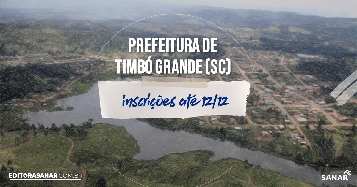 Concurso de Timbó Grande - SC: vagas na Saúde!