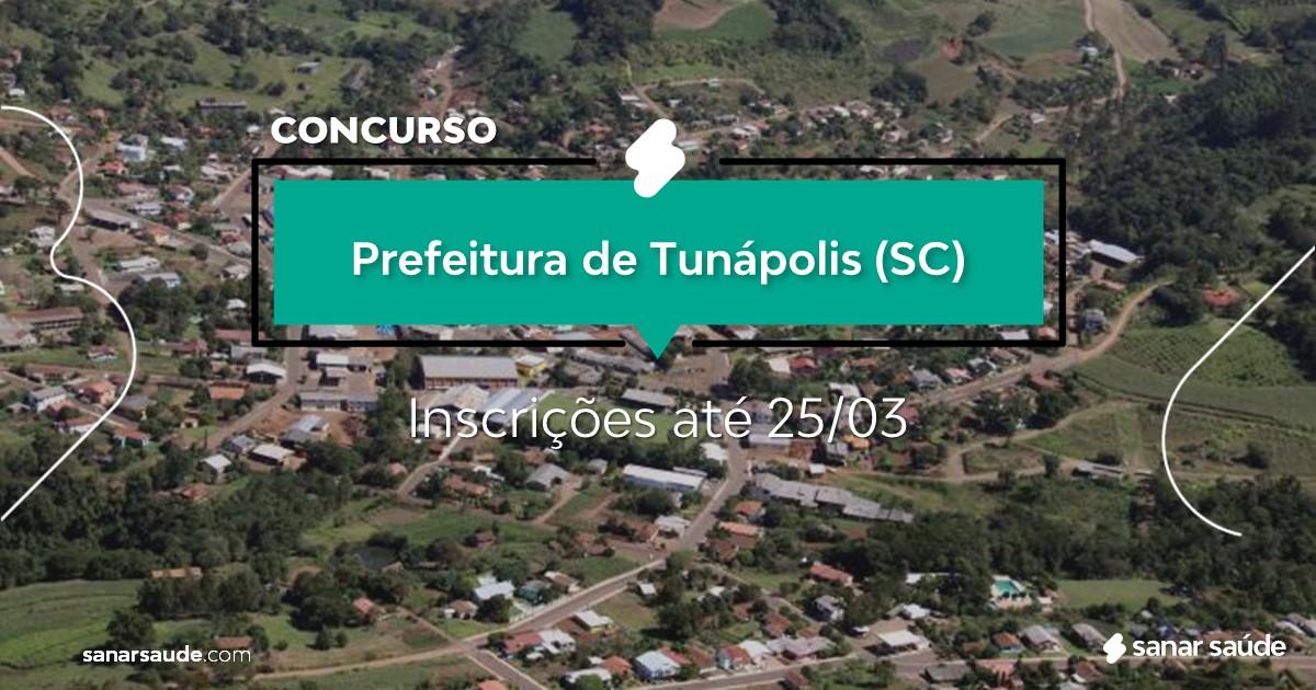 Concurso de Tunápolis - SC: salários de até R$10 mil na Saúde!