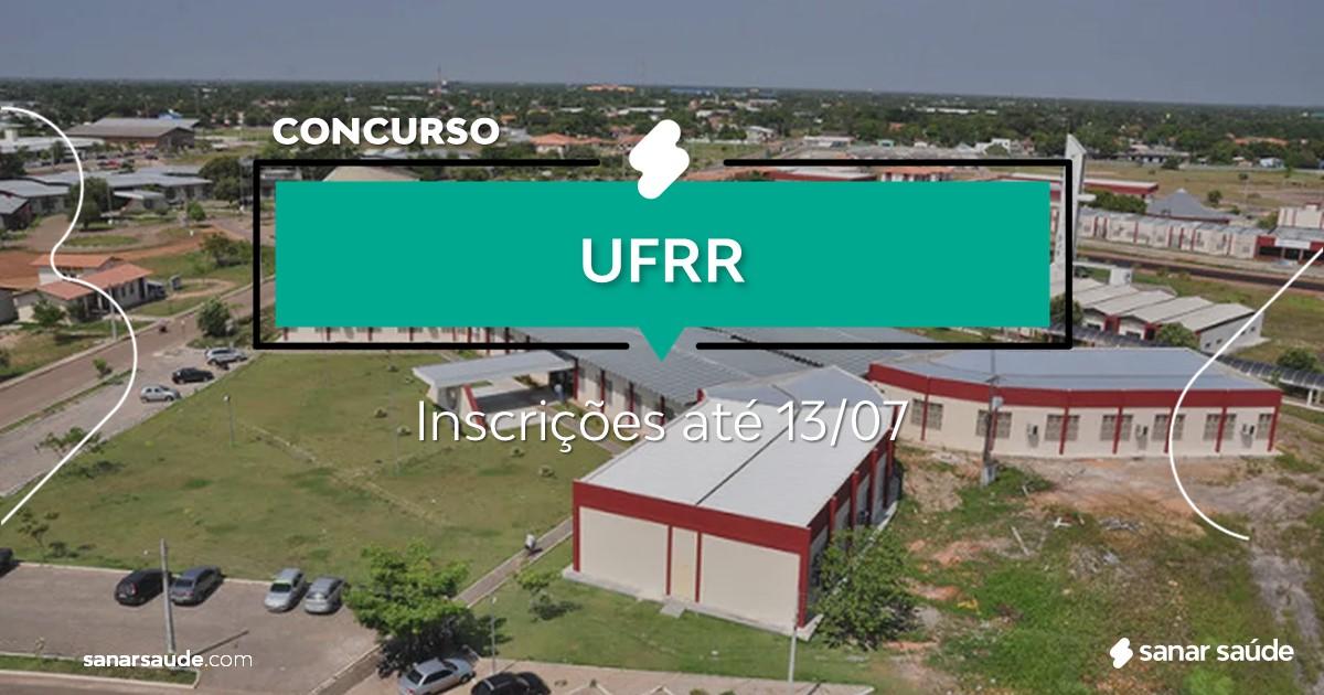 Concurso da UFRR: vagas imediatas na Saúde!
