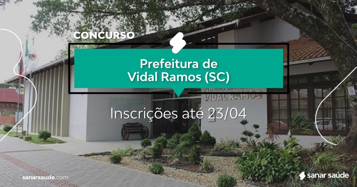 Concurso de Vidal Ramos - SC:  salários até R$15 mil na Saúde!