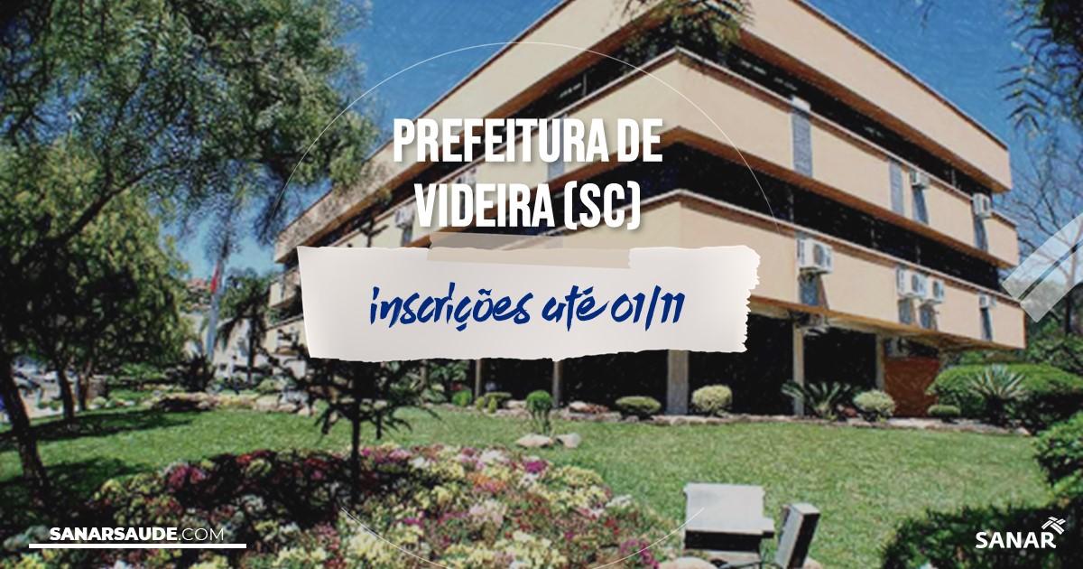 Concurso de Videira - SC: salários de até R$10,8 mil na Saúde!