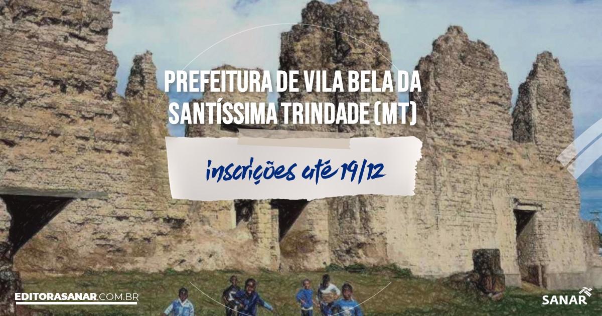 Concurso de Vila Bela da Santíssima Trindade - MT: vagas na Saúde!