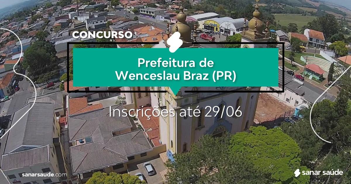 Concurso de Wenceslau Braz - PR: salários até R$10 mil na Saúde!