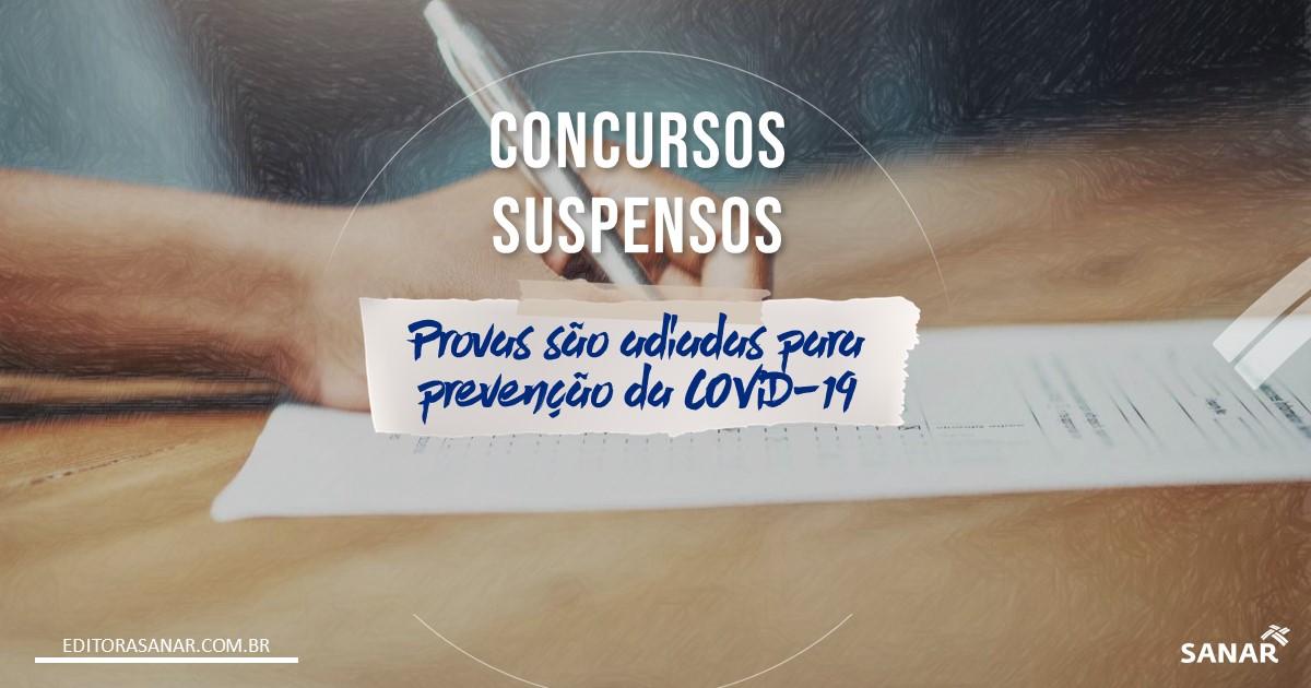 Concursos suspendem provas seguindo orientações de combate ao Coronavírus