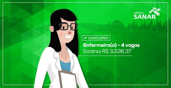 Concurso para Enfermeiros com remuneração de R$ 3.536,37 em São Paulo