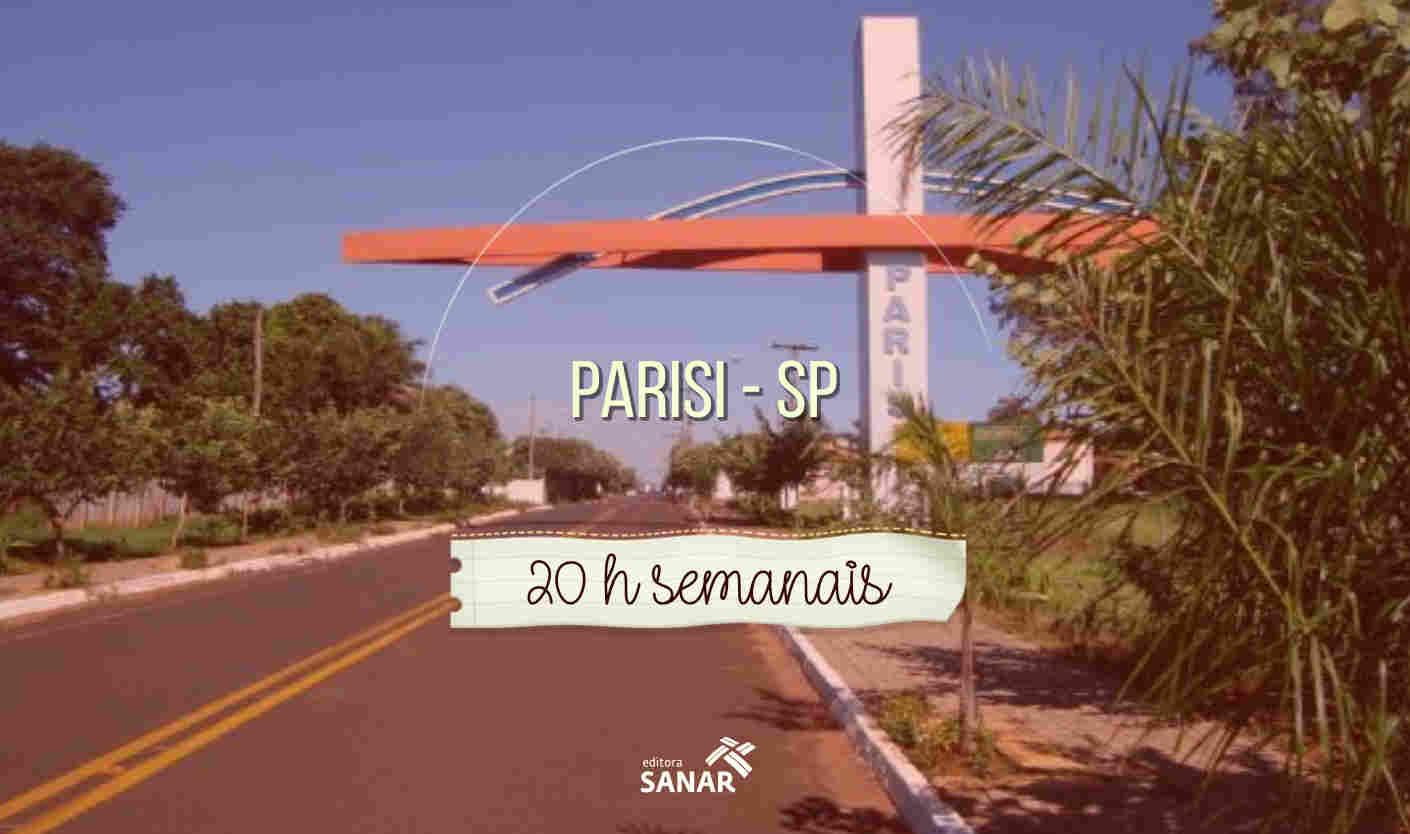 Parisi (SP): vagas com jornada de 20 h nas áreas de Psicologia e Fisioterapia