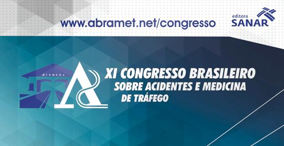 Abramet promove em setembro 11º Congresso Brasileiro Sobre Acidentes e Medicina de Tráfego