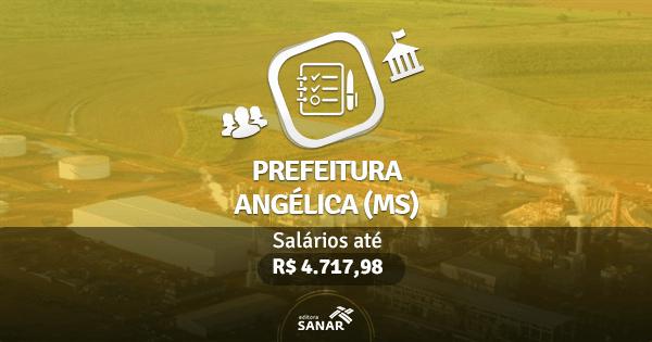 Prefeitura de Angélica (MS) divulga edital com vagas para Enfermeiros, Médicos, Nutricionistas e mais