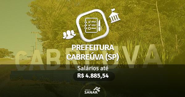 Prefeitura de Cabreúva (SP) publica edital com vagas para Psicólogos, Nutricionistas, Farmacêuticos e Fisioterapeutas