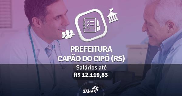 Prefeitura de Capão do Cipó (RS) publica edital de concurso público com vagas para Médicos e Psicólogos