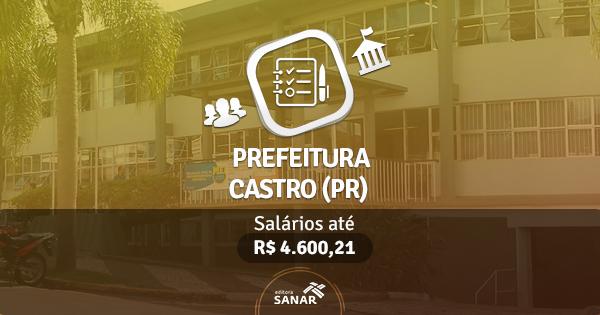Prefeitura de Castro (PR) publica edital com vagas para Veterinários e Dentistas