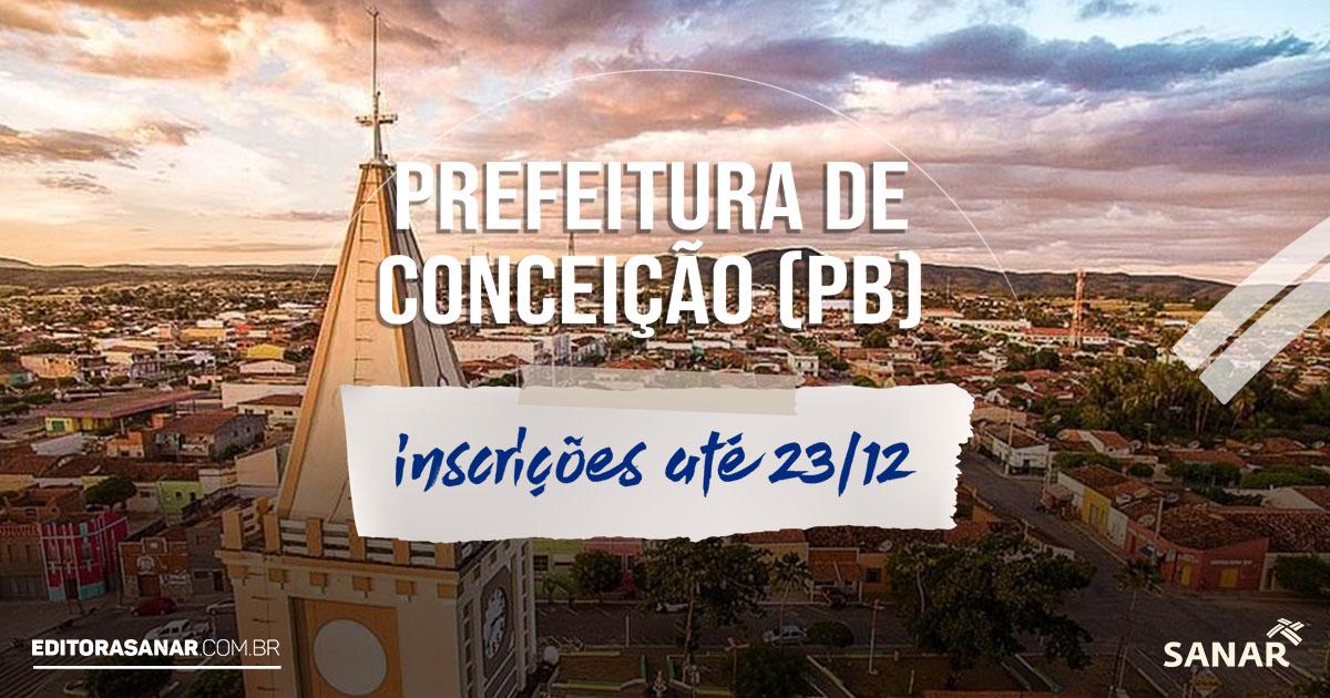 Prefeitura de Conceição (PB): concurso oferece vagas para profissionais de Saúde