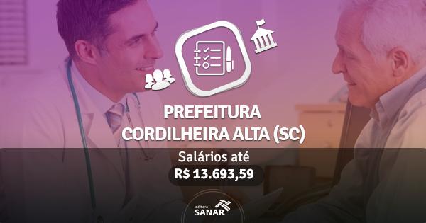 Prefeitura de Cordilheira Alta (SC) publica edital com vagas para Enfermeiros e Médicos