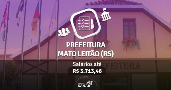 Prefeitura de Mato Leitão (RS) publica edital com vagas para Enfermeiros e Fisioterapeutas