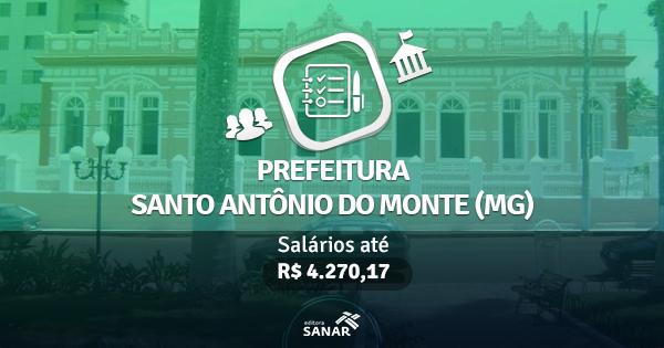 Prefeitura de Santo Antônio do Monte (MG) publica edital com vagas para Dentistas e Psicólogos