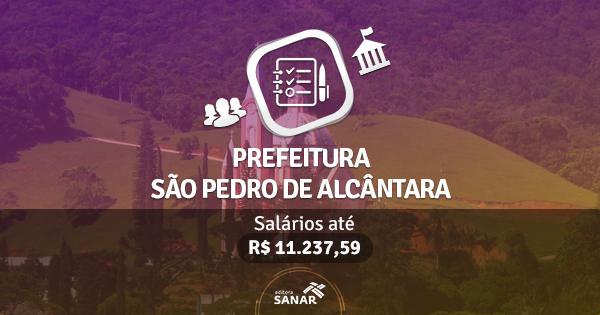 Prefeitura de São Pedro de Alcântara publica edital com vagas para Médicos e Enfermeiros