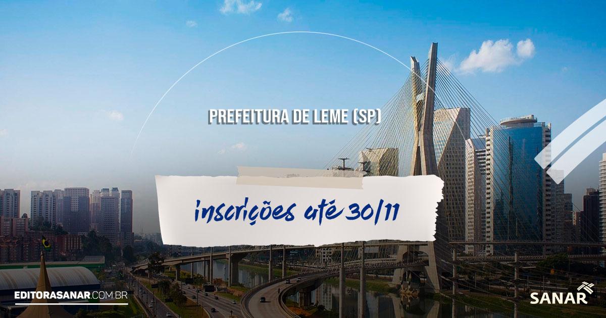 Prefeitura de Leme (SP): concurso oferta 24 vagas para profissionais de Saúde