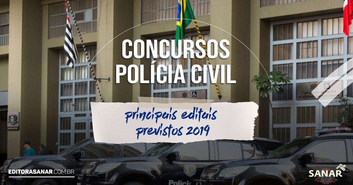 Principais concursos de Polícia Civil previstos para área da Saúde!!