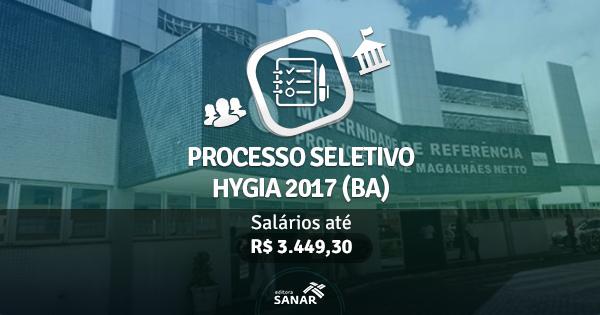 Processo Seletivo HYGIA 2017: edital publicado com vagas para Enfermeiros, Nutricionistas, Psicólogos e mais