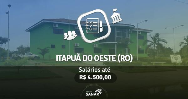 Prefeitura de Itapuã do Oeste (RO): edital aberto com vagas para Farmácia e Odontologia