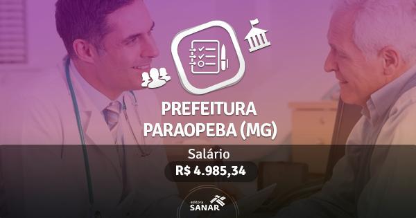 Processo Seletivo Prefeitura Paraopeba (MG): edital publicado com vagas para Enfermeiros