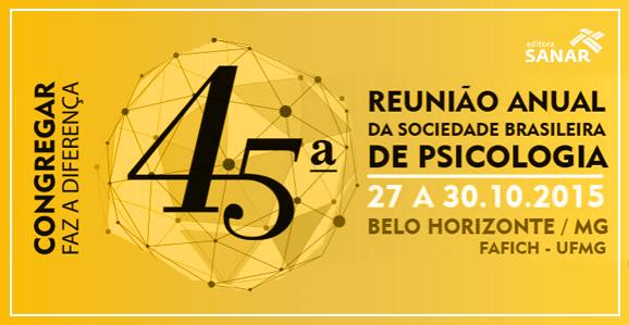 45ª Reunião Anual da SBP acontecerá em Belo Horizonte
