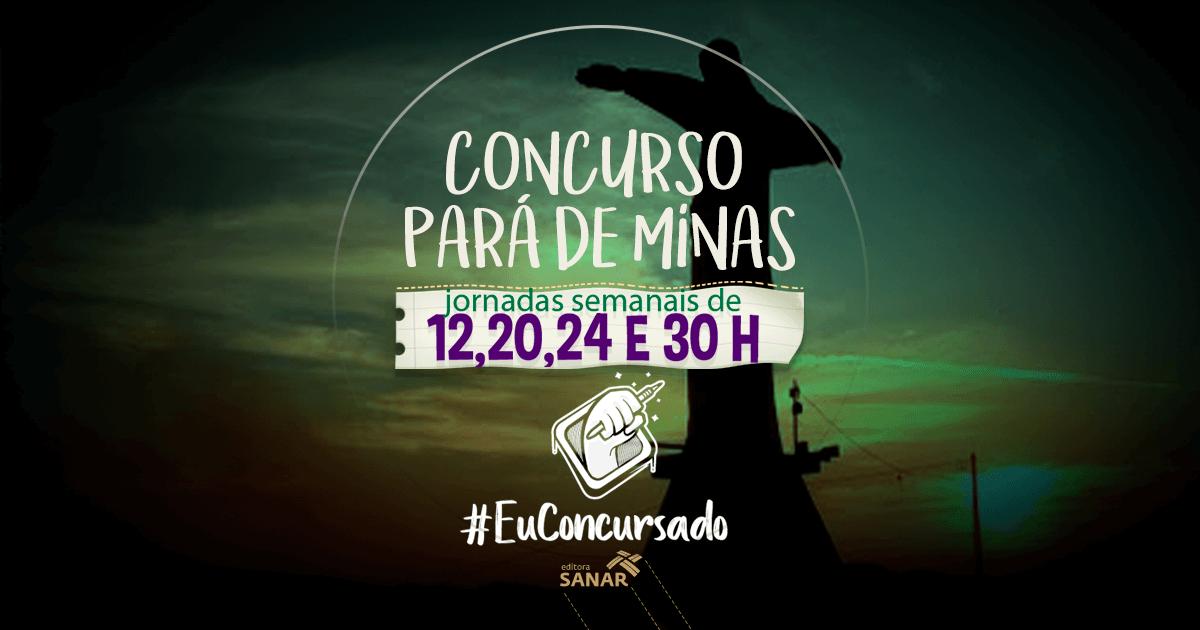 Concurso Pará de Minas (MG): vagas liberadas para 6 áreas da saúde