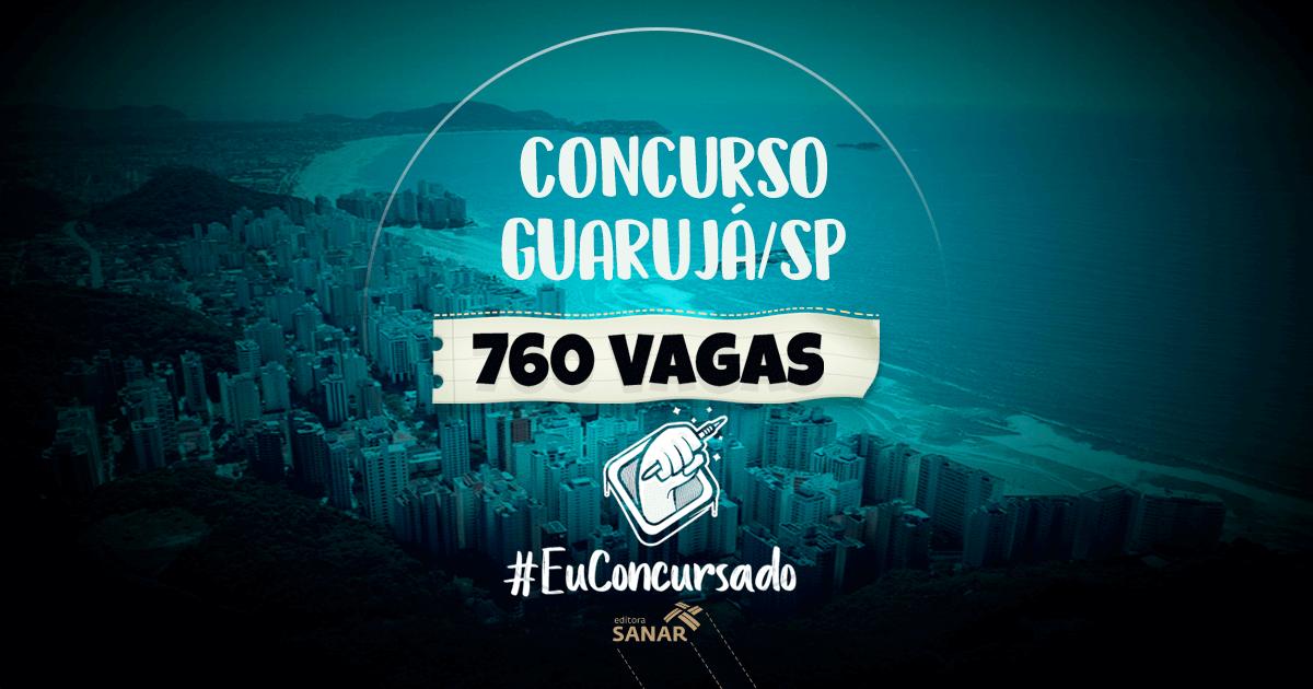 Concurso Prefeitura de Guarujá/SP: 760 vagas para áreas de saúde