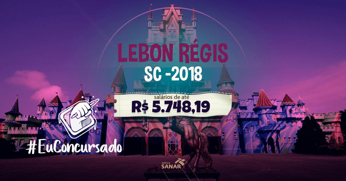 Município Lebon Régis/SC 2018: oportunidades para veterinários, farmacêuticos, psicólogos e mais