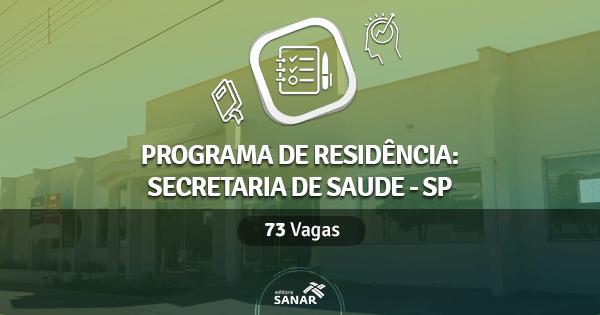 Secretaria de Saúde de São Paulo abre Residência com 73 vagas na Saúde