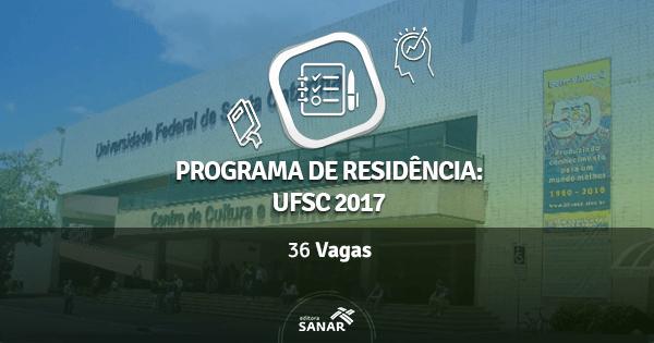 Residência Multiprofissional UFSC 2017 tem 36 vagas em Saúde