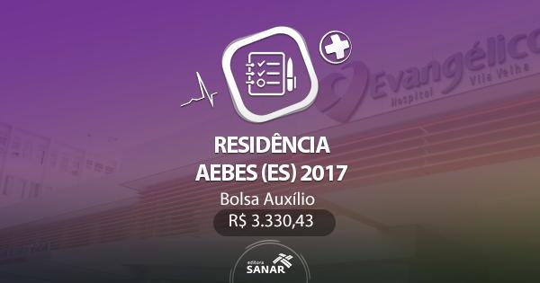 Residência AEBES 2017: edital publicado com vagas para Enfermeiros, Nutricionistas e Fisioterapeutas