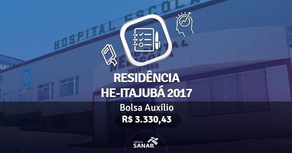 Residência HE-Itajubá 2017: edital publicado com vagas para Nutricionistas, Enfermeiros e Psicólogos