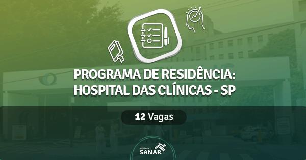 Hospital das Clínicas da USP abre Programa de Residência Multiprofissional em Saúde