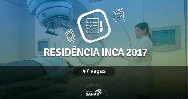 Residência INCA 2017: edital publicado tem vagas em Enfermagem, Farmácia, Fisioterapia, Nutrição e Psicologia