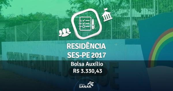 Residência Multiprofissional SES-PE 2017: Edital publicado com vagas em Enfermagem, Nutrição e mais