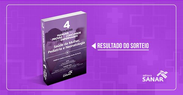 Resultado do Sorteio: Volume 4 - Coleção Manuais para Provas e Concursos em Enfermagem