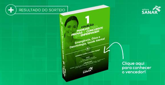 Resultado do Sorteio: Coleção Manuais para Provas e Concursos em Enfermagem (Vol. 1)