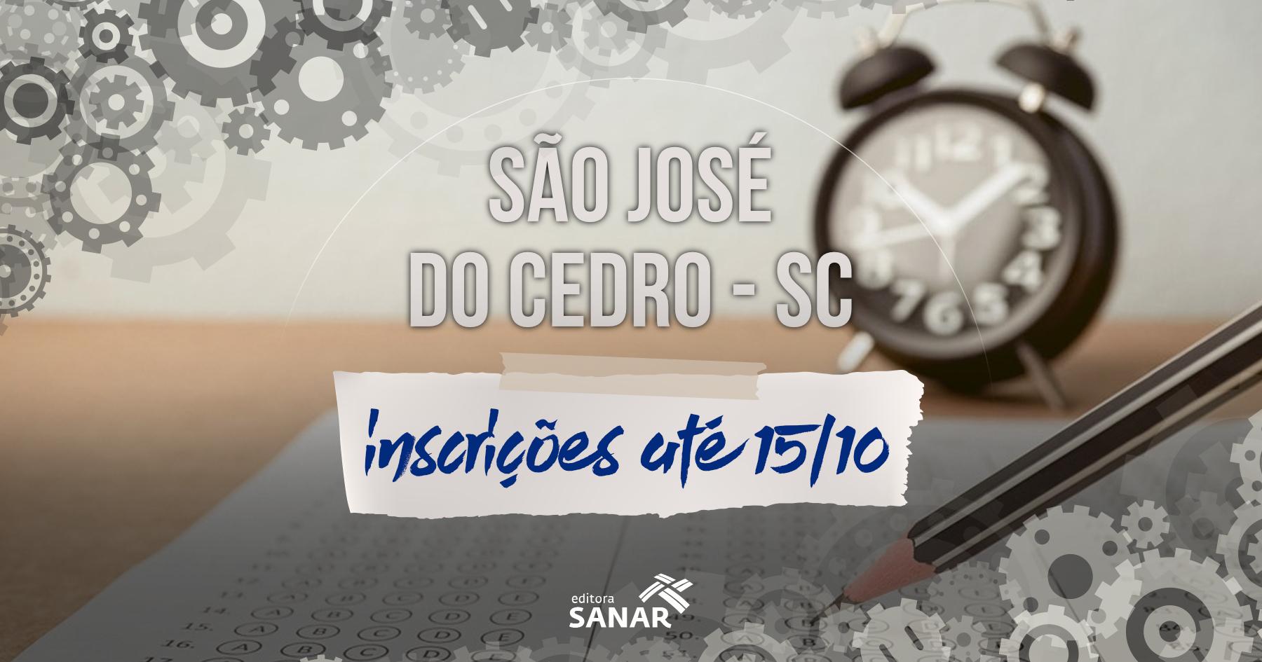 Concurso | Inscrições abertas em São José do Cedro