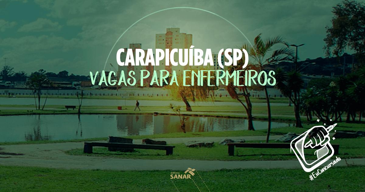 Prefeitura de Carapicuiba (SP):  inscrições abertas para Médicos Veterinários e Enfermeiros