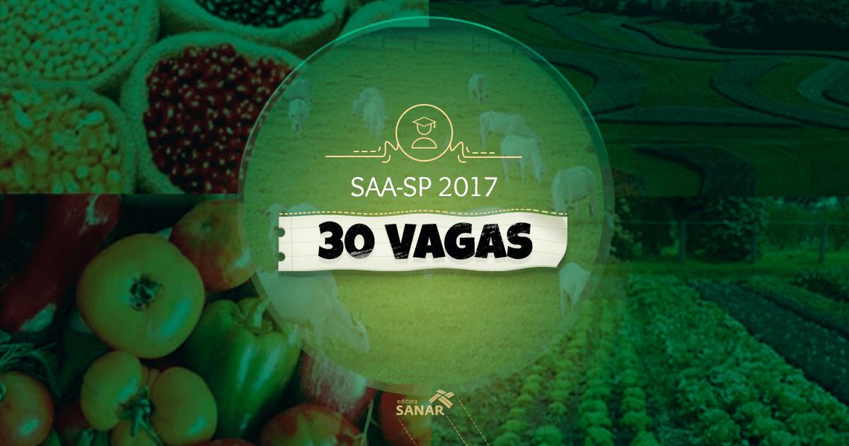 Concurso SAA-SP 2017: inscrições abertas com 30 vagas para Médicos Veterinários