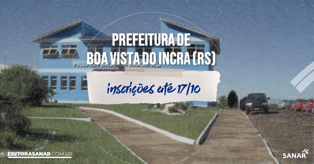 Concurso de Boa Vista do Incra - RS: salários até R$10 mil na Saúde!