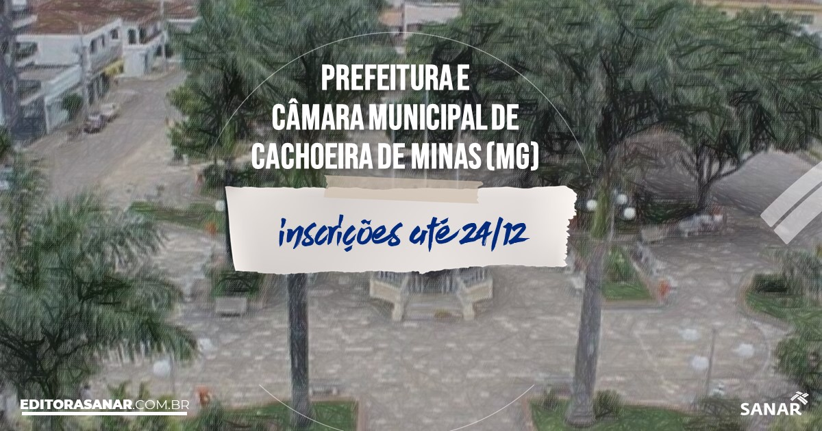 Concurso de Cachoeira de Minas - MG: vagas na Saúde!