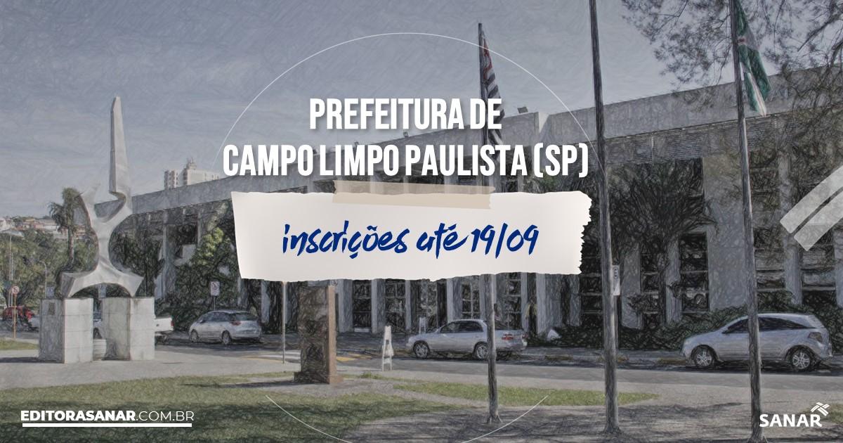 Concurso de Campo Limpo Paulista - SP: vagas imediatas na Saúde!