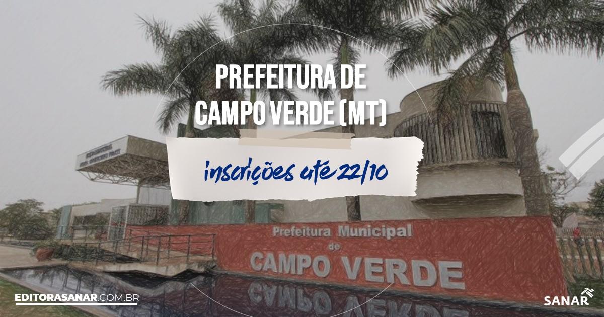 Concurso de Campo Verde - MT: vagas na Saúde!