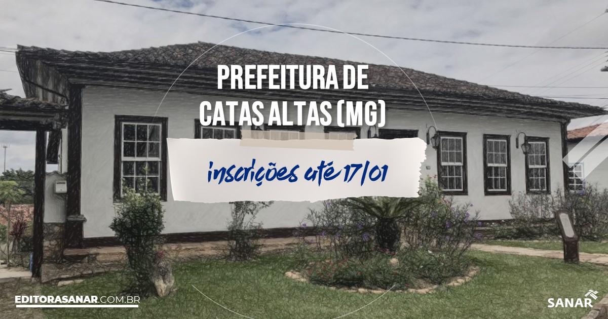 Concurso de Catas Altas - MG: salários até R$8 mil na Saúde!